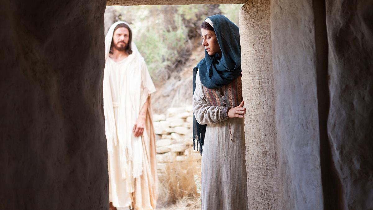Jesus and Mary at the Empty Tomb